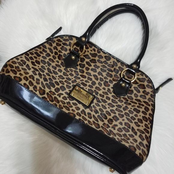 7a72ec524496 Valentina Italian leather leopard handbag. M 5b96c4b0aaa5b8c2f5151ef7